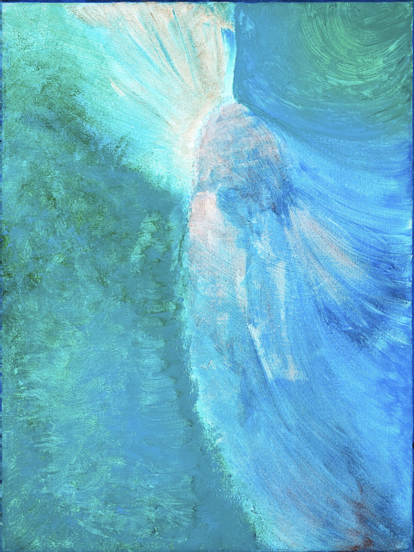 Peacock Painting abstract